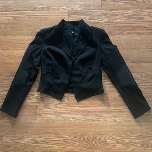 WHBM Cropped Moto Style Jacket